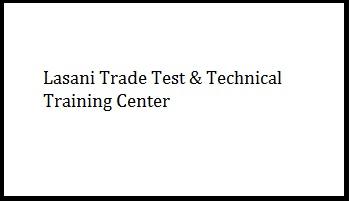 Lasani Trade Test & Technical Training Center Logo