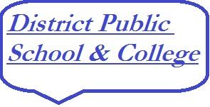 District Public School & College Logo